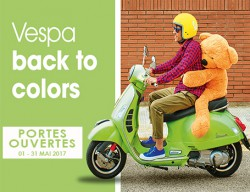 OPEN DOORS VESPA -BACK TO COLORS